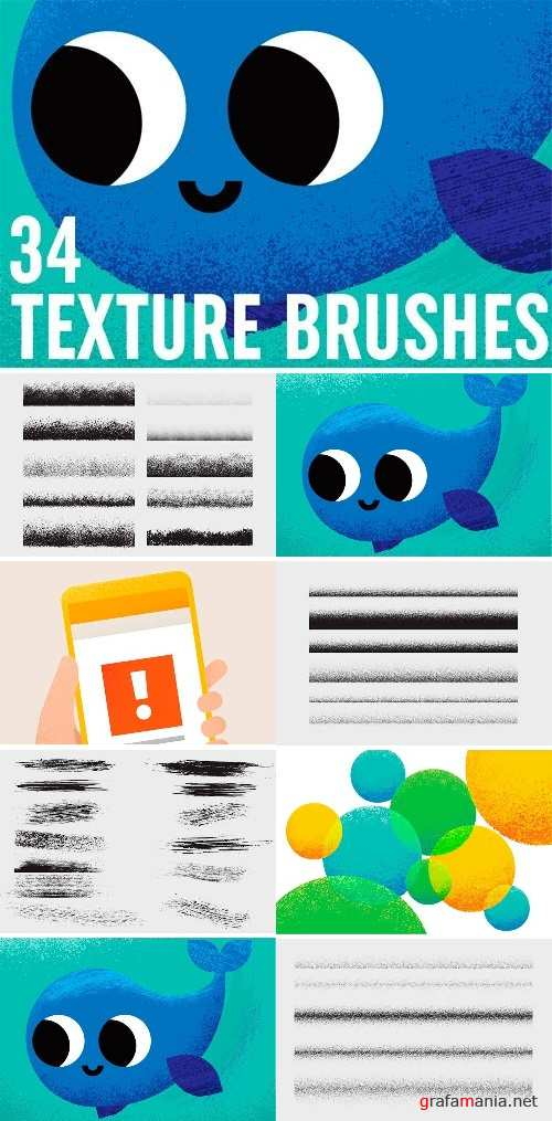 34 Texture Brushes Vector - 1382069