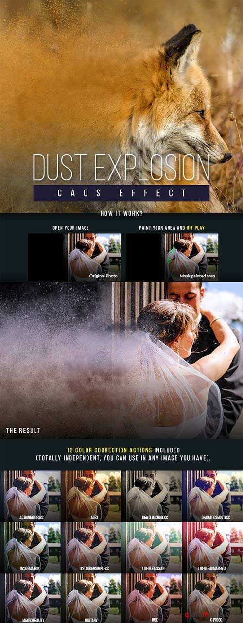 GraphicRiver Dust Explosion Caos Effect