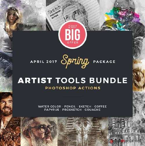 GraphicRiver Artist Bundle Photoshop Actions - 8 in 1
