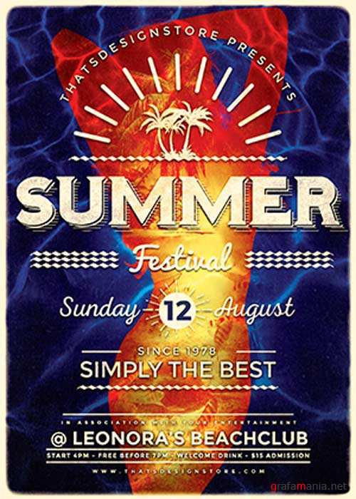 Summer Fest V33 Flyer Template