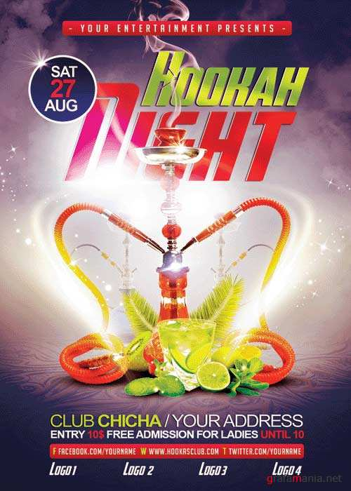 Hookah Night V23 Flyer Template