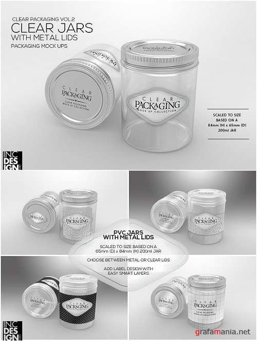 Clear Jars with Metal Lids