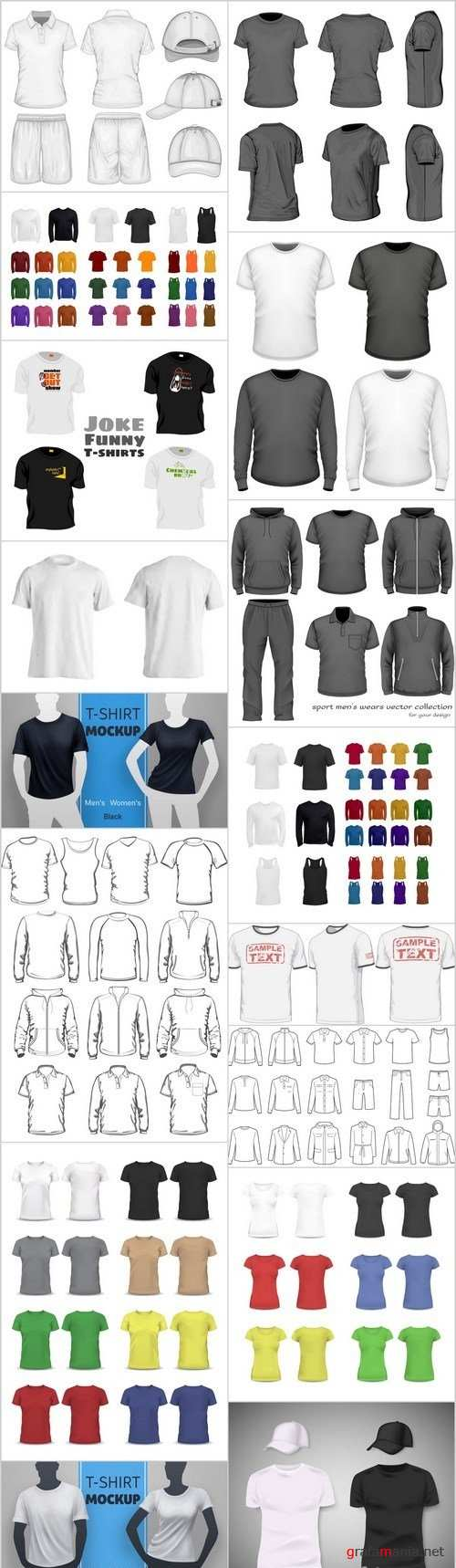 T-Shirts & Clothes Design - 16xEPS Vector Stock