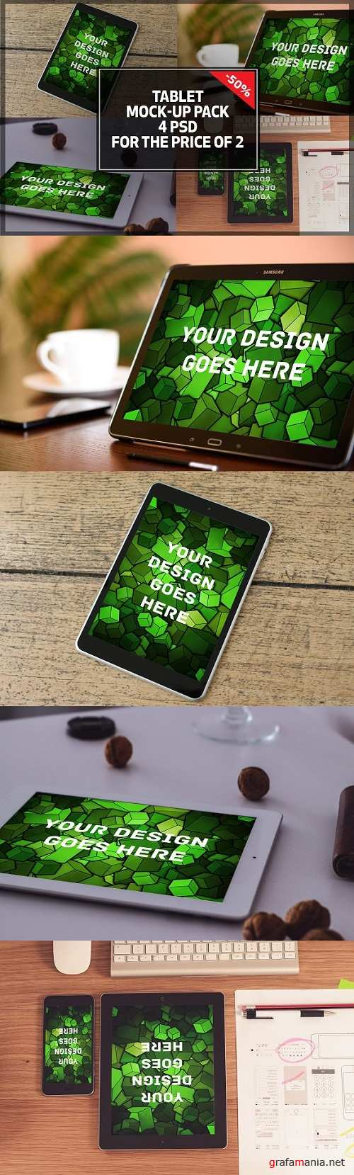 Tablet Mock-up Pack#4 - 1084779