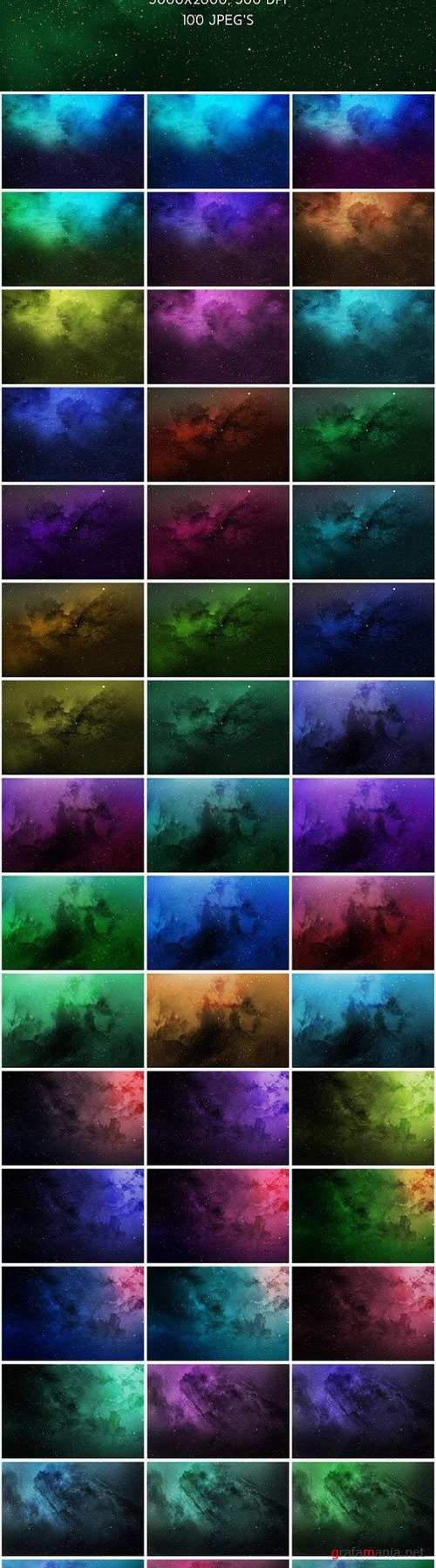 100 Space Backgrounds 1329340