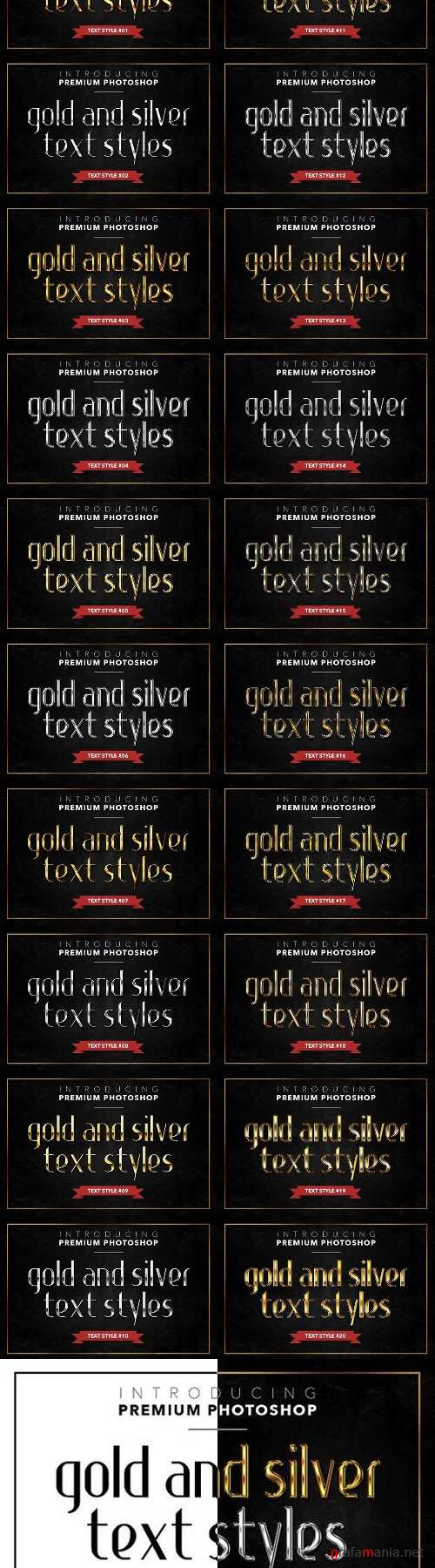 Gold & Silver #1 - 20 Styles 1272554