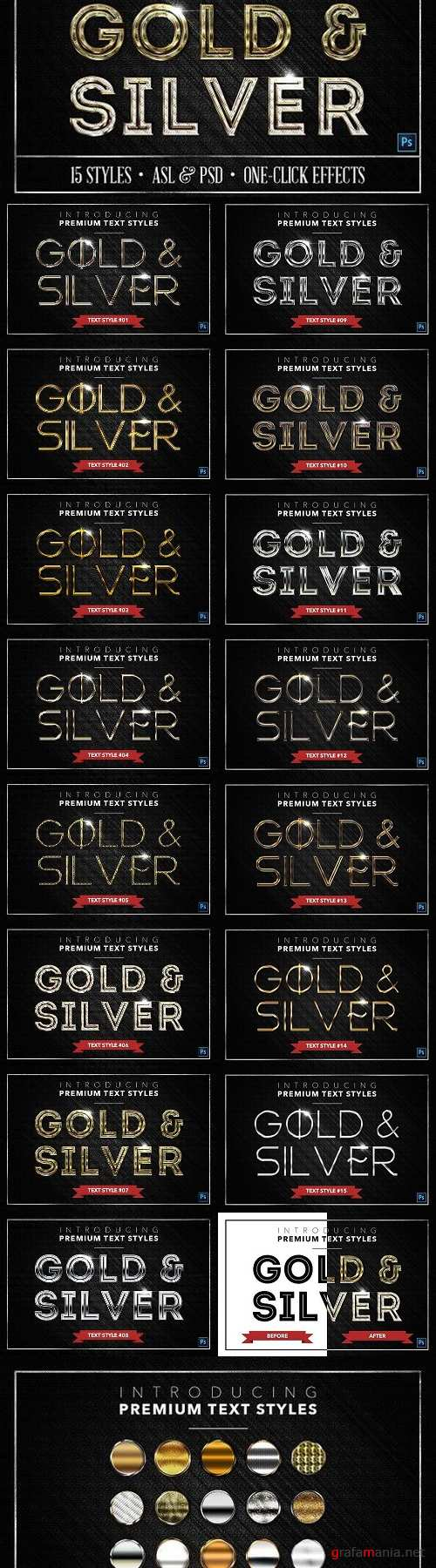 Gold & Silver #3 - 15 Styles 1279190