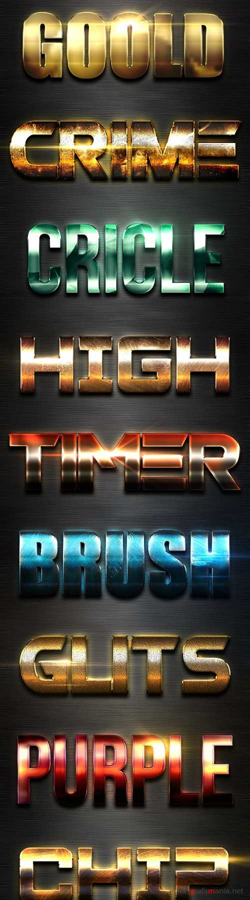 New 10 Extra Light Text Effects Vol.9  - 19516908