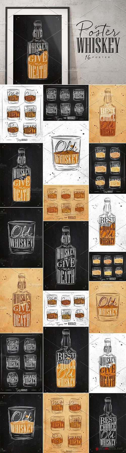 Poster Whiskey - 1344203