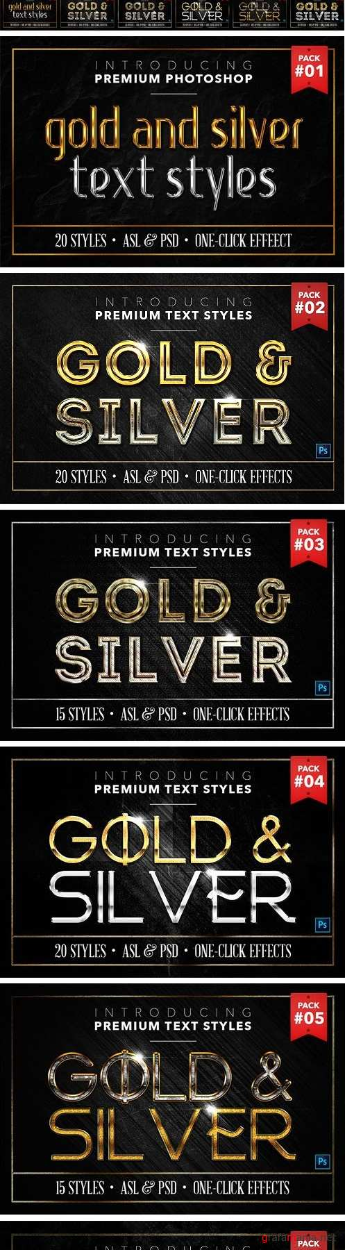 BUNDLE: Gold & Silver Text Styles 1402373