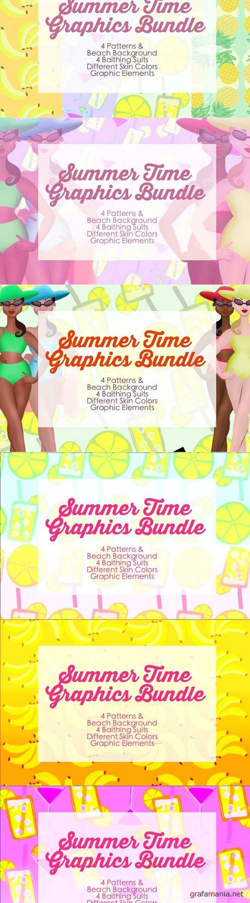 Summer Time Graphic Bundle 1382129