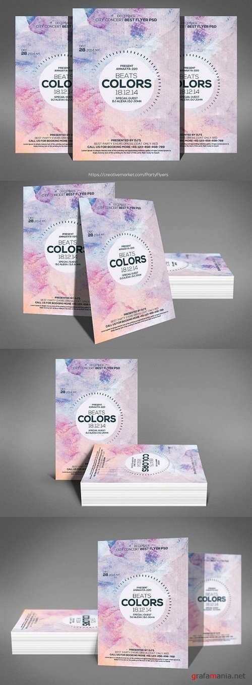 Color Beats Flyer Templates 1247911