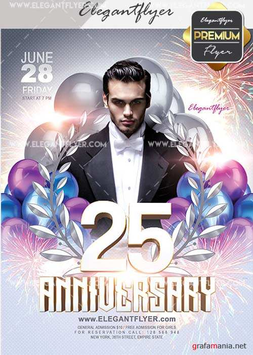 Anniversary V23 Flyer PSD Template + Facebook Cover