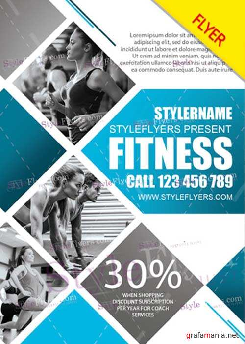 Fitness V33 PSD Flyer Template