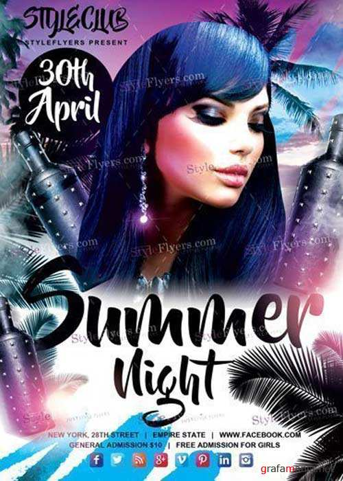 Summer Night V36 PSD Flyer Template