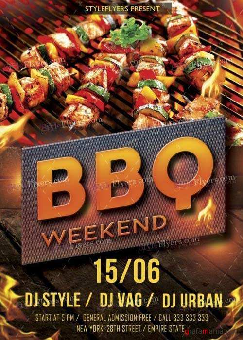 BBQ V39 PSD Flyer Template