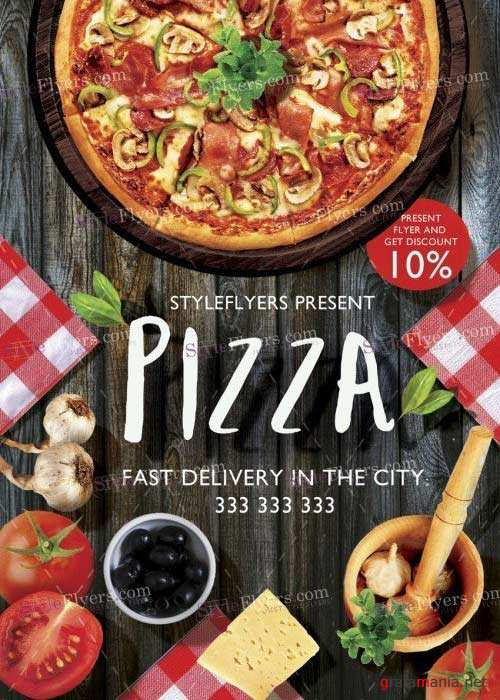 Pizza V25 Flyer PSD Template