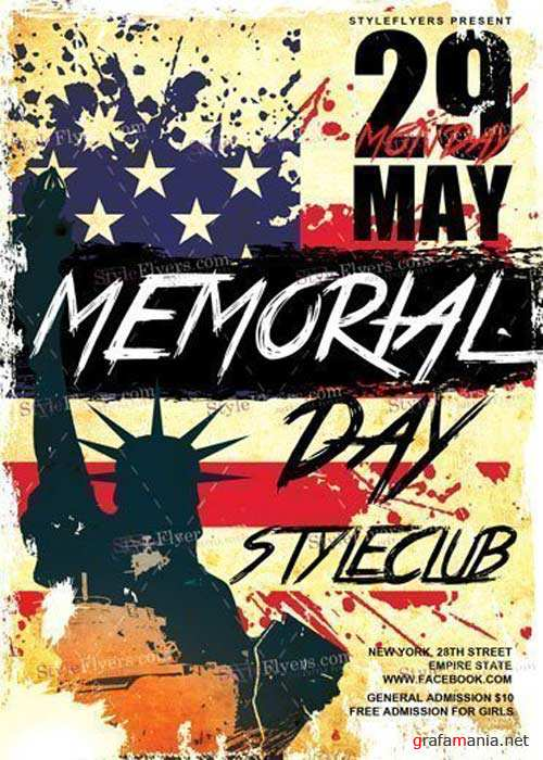 Memorial Day V10 PSD Flyer Template