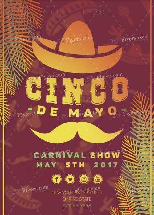 Cinco de Mayo V36 PSD Flyer Template