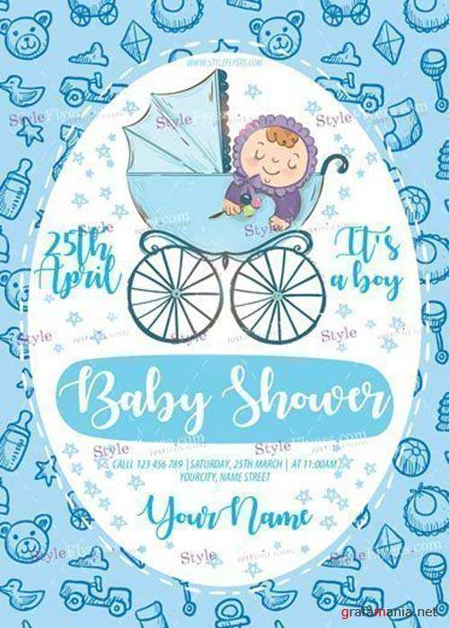 Baby Shower V23 PSD Flyer Template