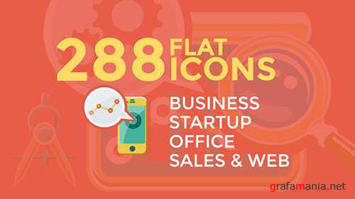 Business & Startup Flat Icons - Project for After Effects (Videohive)