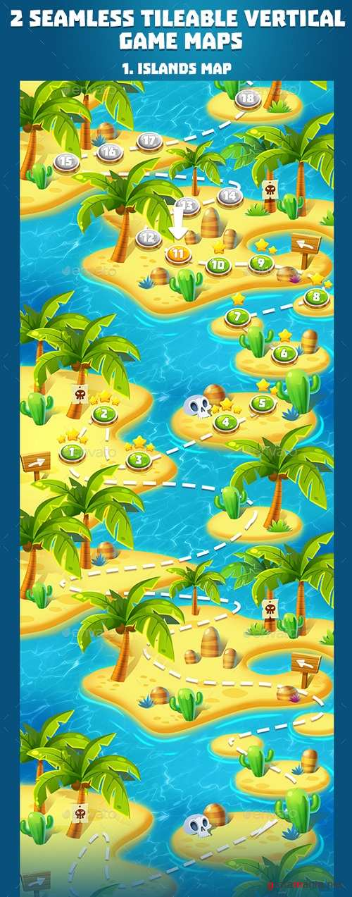 2 Tropical Seamless Game Maps 19763207