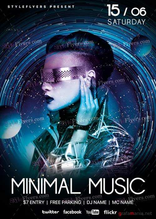 Minimal Music V15 PSD Flyer Template
