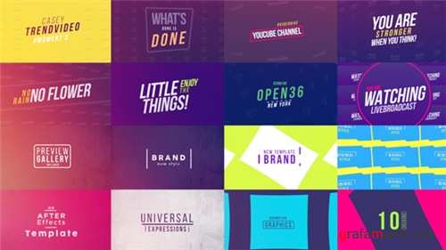 50 Creative Titles - After Effects Project (Videohive)