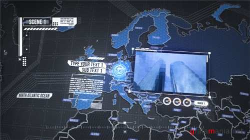 World Map Element 3D - After Effects Project (Videohive)