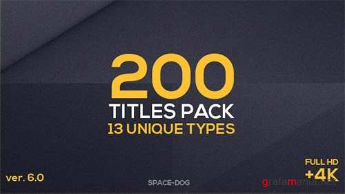 200 Titles Pack (13 unique types) - After Effects Project (Videohive)