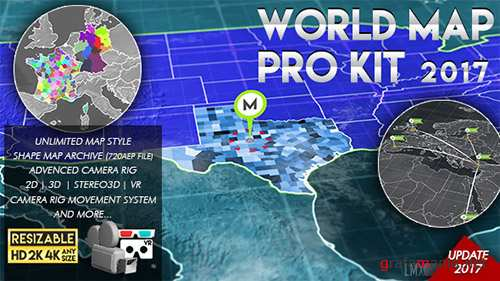 World Map Pro Kit - Project for After Effects (Videohive)