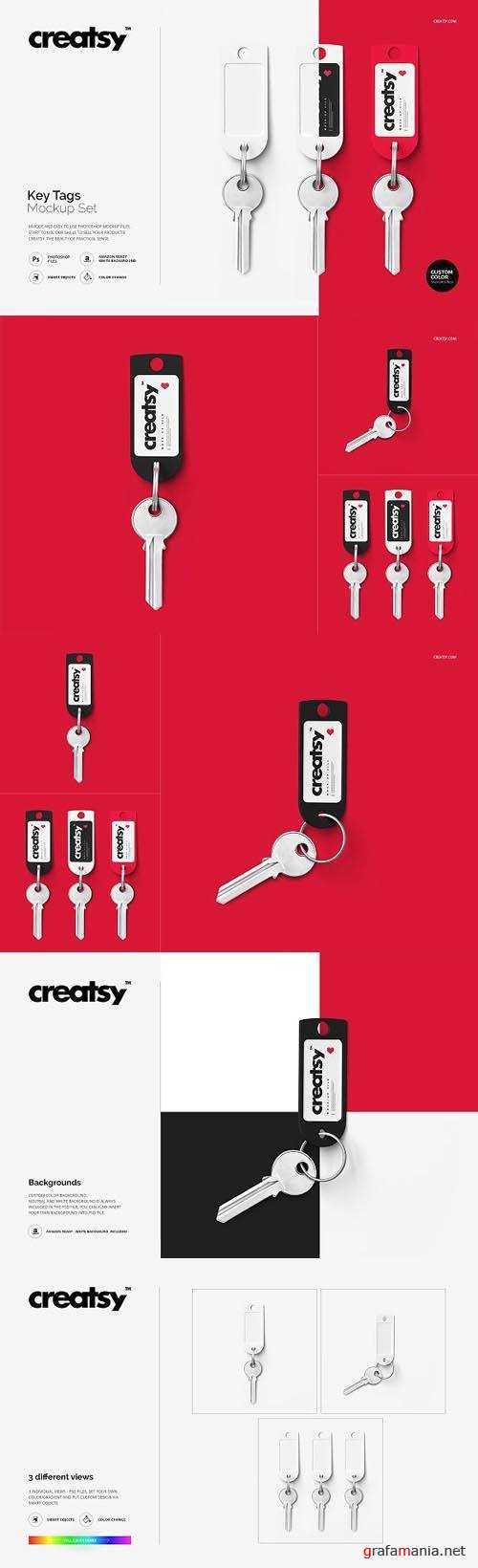 Key Tags Mockup Set 1447629