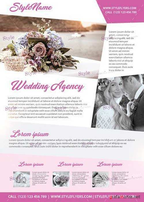 Wedding Agency V26 PSD Flyer Template