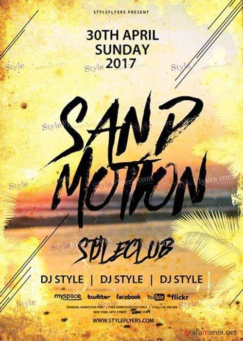 Sand Motion V10 PSD Flyer Template