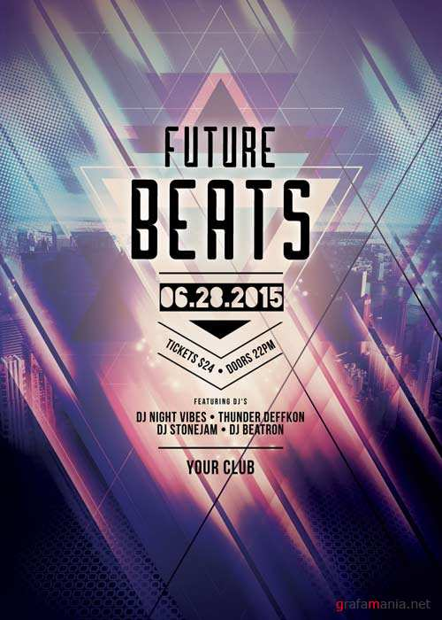 Future Beats V14 Flyer Template