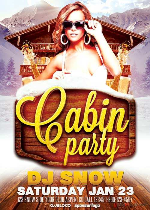 Cabin Party V11 Flyer Template