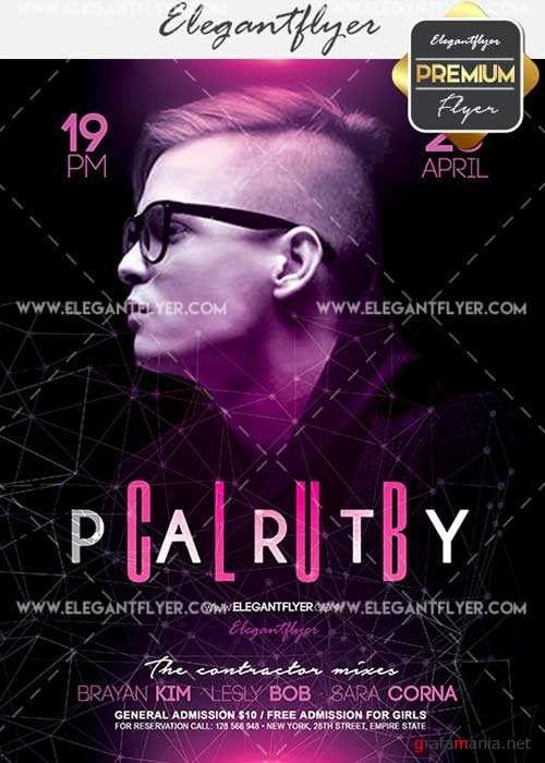 Club Party V34 Flyer PSD Template + Facebook Cover