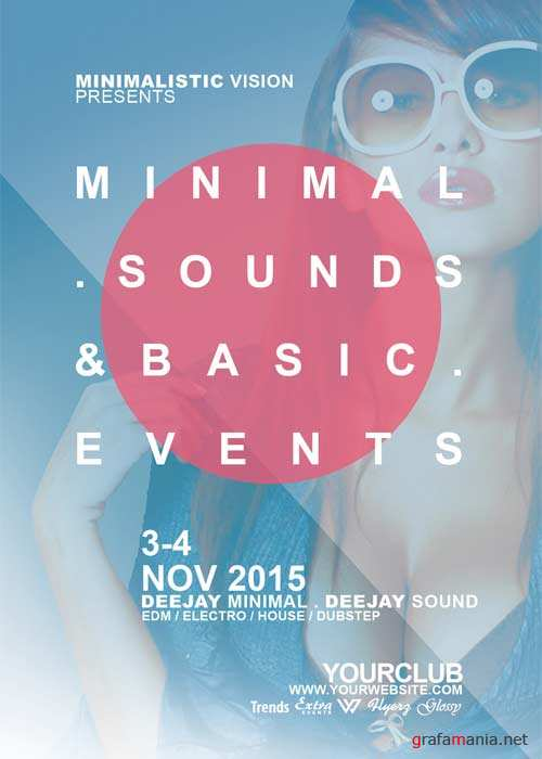 Minimal Sounds Basics V2 Flyer Template