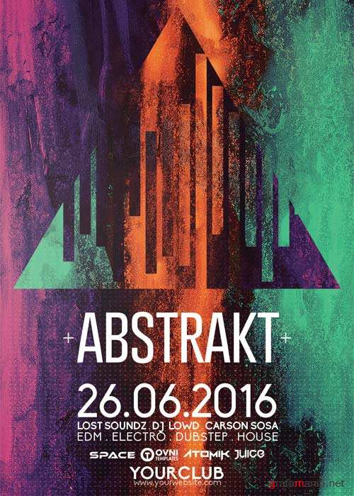 ABSTRAKT V41 Flyer Template