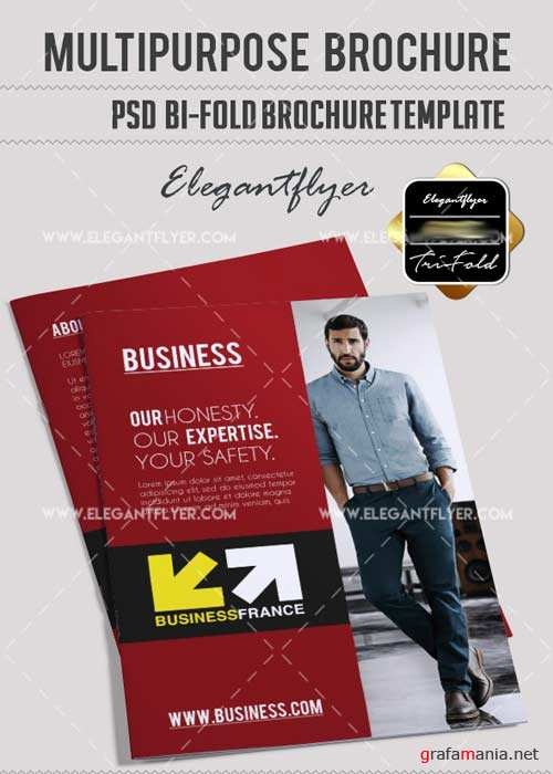 Multipurpose V10 Bi-Fold PSD Brochure Template