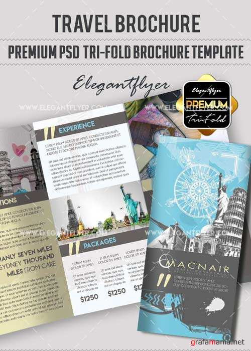 Travel V18 Premium Tri-Fold PSD Brochure Template