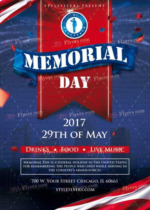 Memorial Day V33 PSD Flyer
