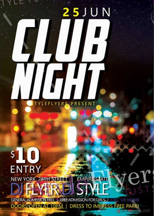 Club Night V27 Flyer Psd Template