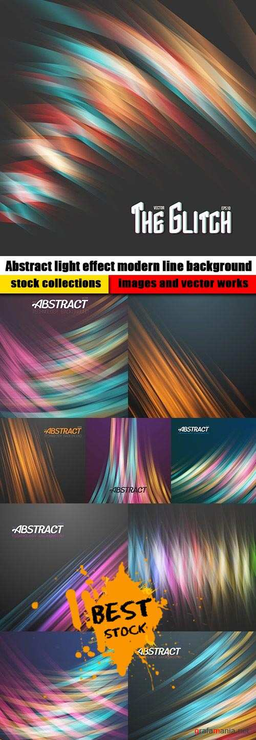 Abstract light effect modern line background