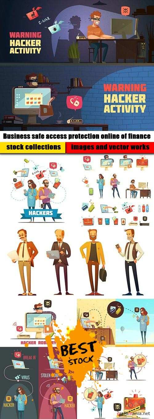 Business safe access protection online of finance