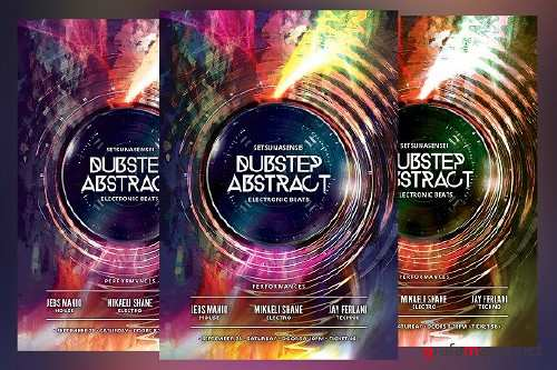 Dubstep Abstract Flyer 1492461