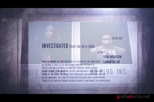 Crime File After Effects Templates