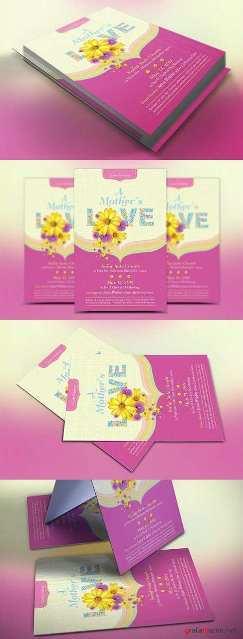 Mothers Love Church Flyer Template 1412829