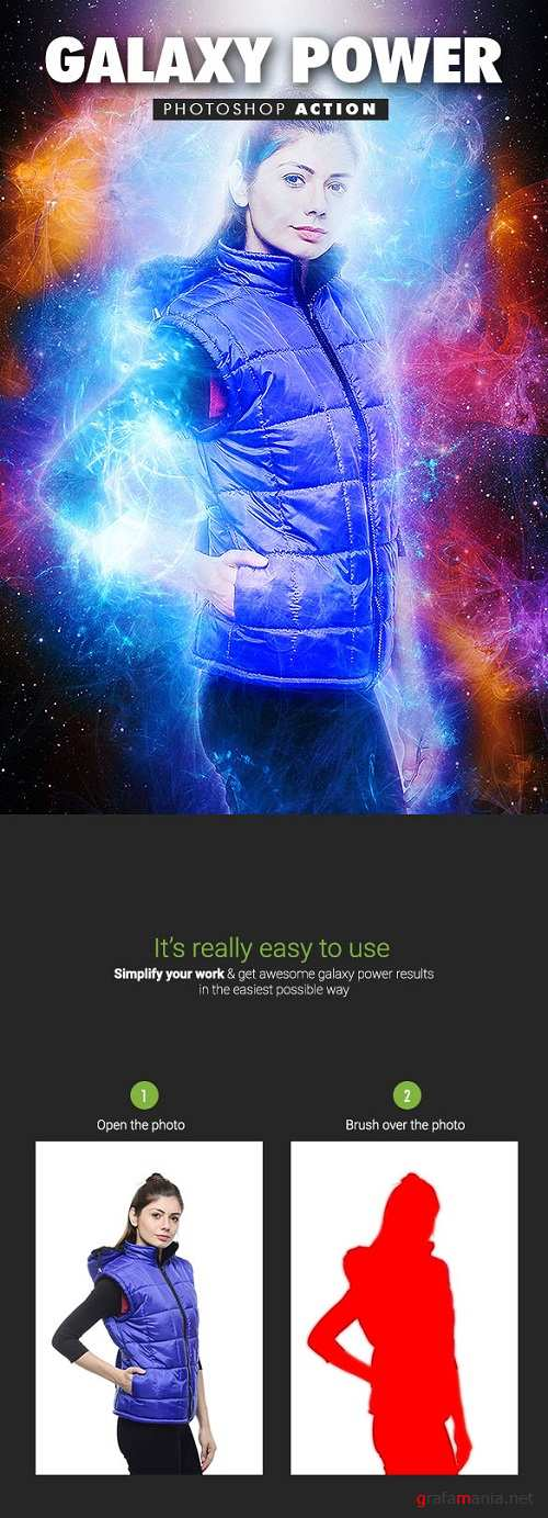 Galaxy Power Photoshop Action 19548103