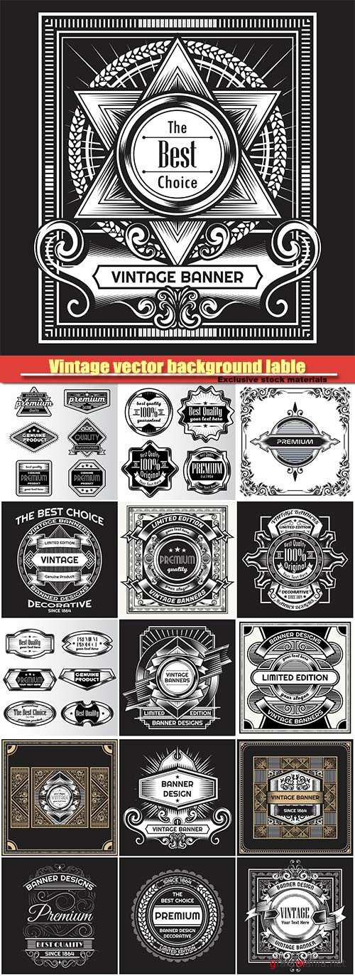 Vintage vector background lable design template